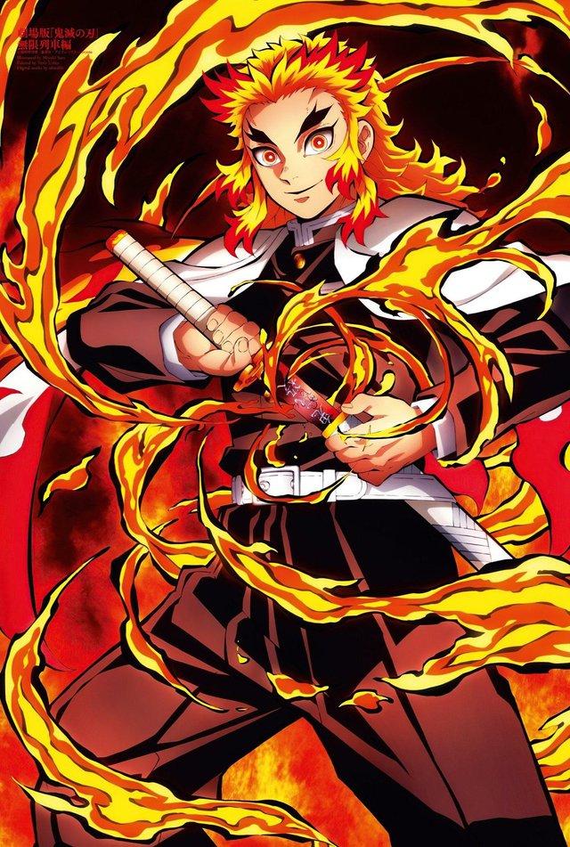 Viêm trụ Rengoku Kyojuro, nhân vật trung tâm của phim Chuyến tàu bất tận
