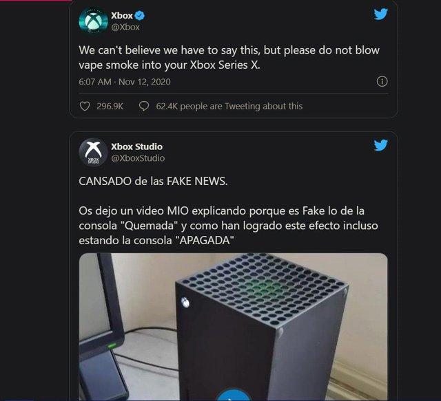Xuất hiện rất nhiều video cho thấy Xbox Series X đang bốc cháy, tuy nhiên đều là giả? - Ảnh 3.