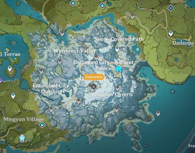 Spoil Genshin Impact: Lộ diện bản đồ mới Long Tích Tuyết Sơn, tướng mới Xiao sẽ ra mắt trong phiên bản 1.2 - Ảnh 1.