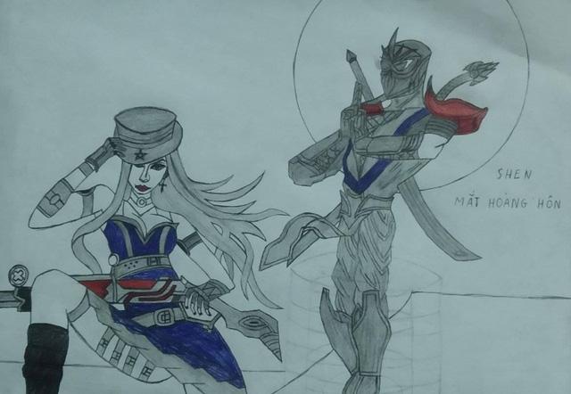Hết hồn với những bức họa tướng Liên Minh: Tốc Chiến của game thủ, nhìn không thể nhận ra được đây là ai - Ảnh 4.