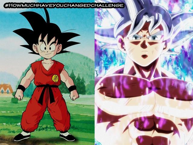 Thích thú khi thấy các nhân vật trong Dragon Ball tham gia thử thách #Howmuchhaveyouchangedchallenge - Ảnh 1.