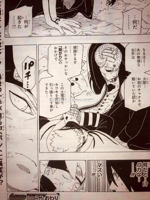 Naruto quyết khô máu với Isshiki, Boruto thức tỉnh con mắt bí ẩn khiến Sasuke kinh ngạc trong chap mới - Ảnh 15.