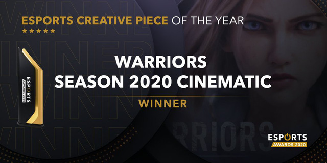 """Riot Games chiến thắng hạng mục """"Sản phẩm sáng tạo của năm"""" với video cinematic Warriors"""