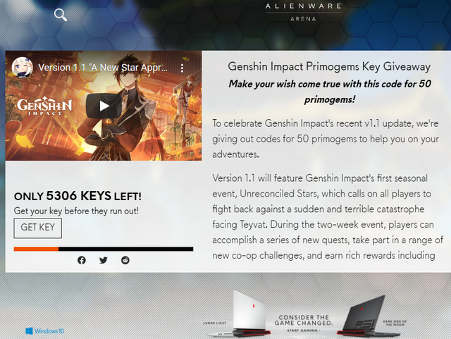 Genshin Impact tung ra loạt code độc quyền Untitled-16063225229161928416988