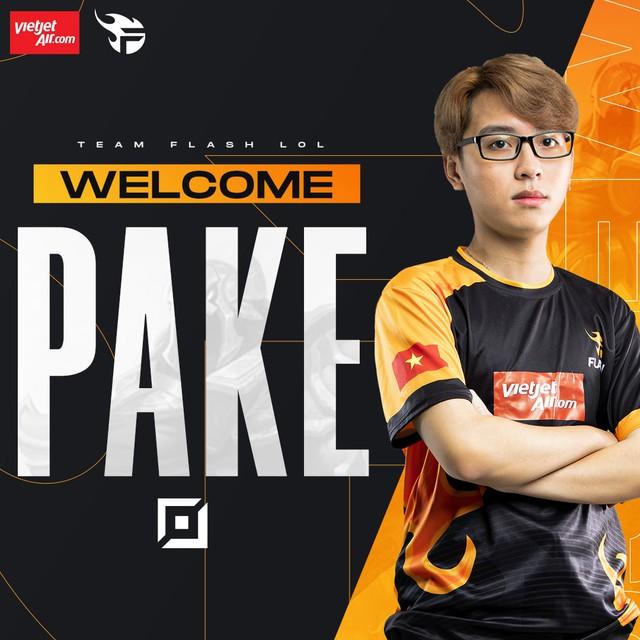 Team Flash thông báo chiêu mộ Pake, nhưng phản ứng của fan lại trái với mong đợi: Rồi xong! FL chỉ còn là phép bổ trợ - Ảnh 1.