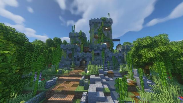 Thánh Minecraft dành cả thanh xuân để xây rùa bay khổng lồ, trên lưng còn vác thêm tòa tháp pha lê đầy tráng lệ - Ảnh 4.