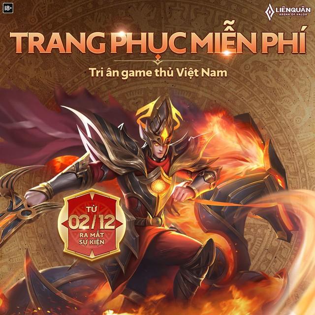 Liên Quân tặng miễn phí toàn bộ server skin Thánh Gióng đậm chất Việt, giữ chân game thủ trước Tốc Chiến - Ảnh 2.