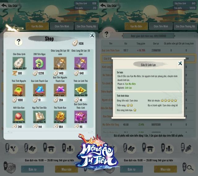 Game Tu Tiên AFK dẫn đầu thị trường - Mộng Ảo Tu Tiên tung Big Update 4.0: 500 anh em đua nhau chơi chứng khoán, dân cày ngày càng mạnh! - Ảnh 4.