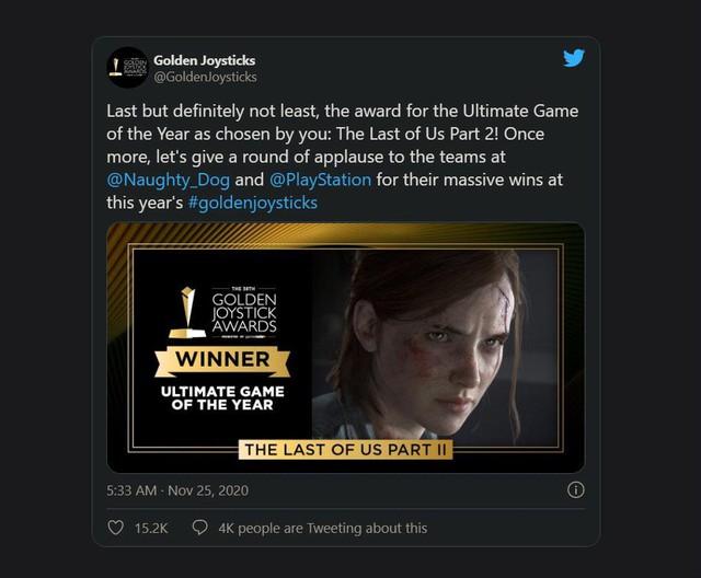 The Last of Us 2 thiết lập kỷ lục mới, sẵn sàng thách thức mọi đối thủ tại The Game Awards 2020 - Ảnh 2.