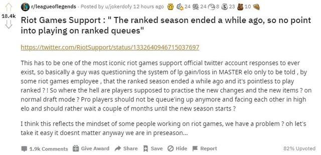Nói đánh rank hiện giờ là vô nghĩa, Riot Games tiếp tục là tâm điểm chế giễu của cộng đồng LMHT - Ảnh 3.