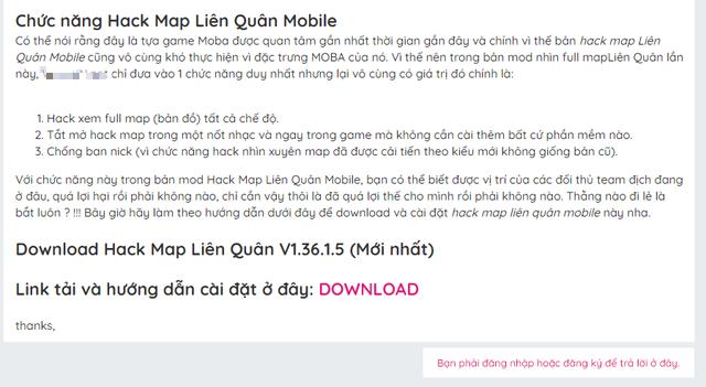 Sốc! Một diễn đàn công nghệ nổi tiếng tại Việt Nam lại đăng bài chia sẻ, hướng dẫn hack Liên Quân - Ảnh 4.