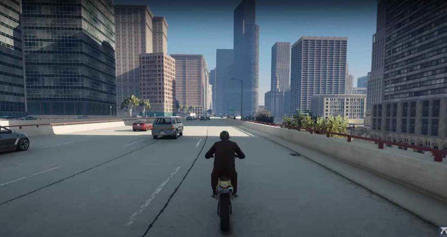 Thấy Los Santos còn bé, hai game thủ thêm hẳn thành phố Chicago rộng lớn vào GTA 5 để chơi - Ảnh 1.