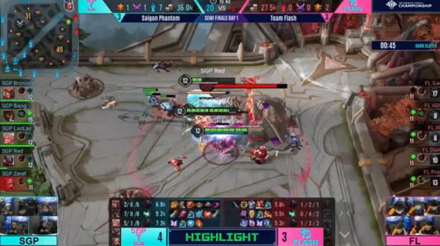 Team Flash để thua Saigon Phantom trong bán kết ngày hôm qua