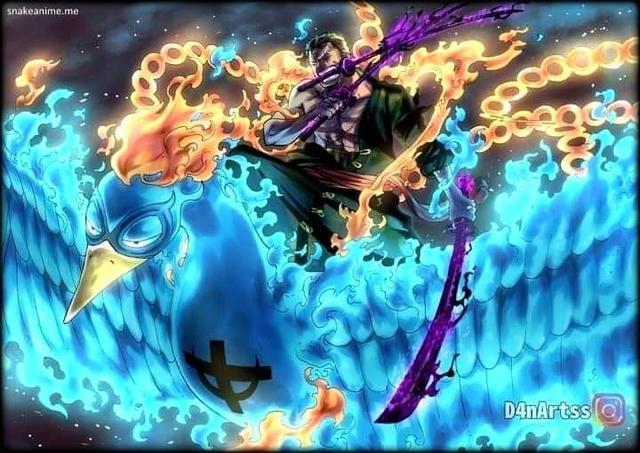Spoil One Piece 999: Hé lộ về món nợ của 2 Tứ Hoàng, Zoro cưỡi phượng hoàng đại chiến King - Queen - Ảnh 2.