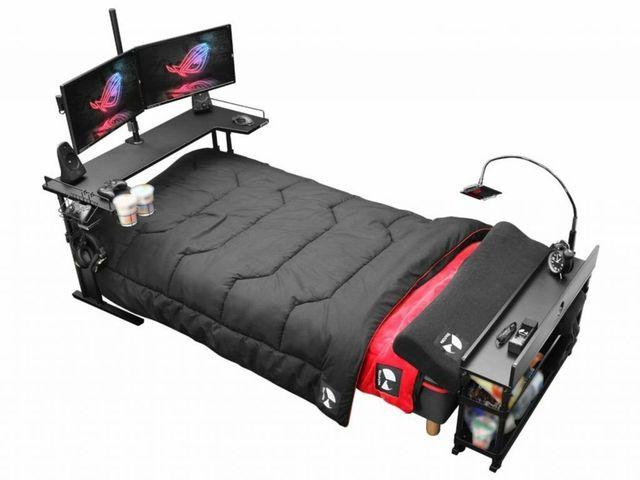 Bất ngờ với chiếc giường gaming đa dụng, ăn ngủ vệ sinh tại chỗ cho game thủ, giá chỉ ngang xe Wave - Ảnh 1.