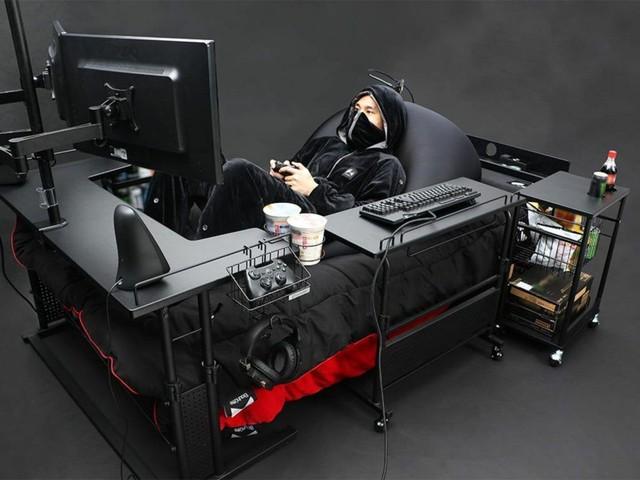 Bất ngờ với chiếc giường gaming đa dụng, ăn ngủ vệ sinh tại chỗ cho game thủ, giá chỉ ngang xe Wave - Ảnh 3.