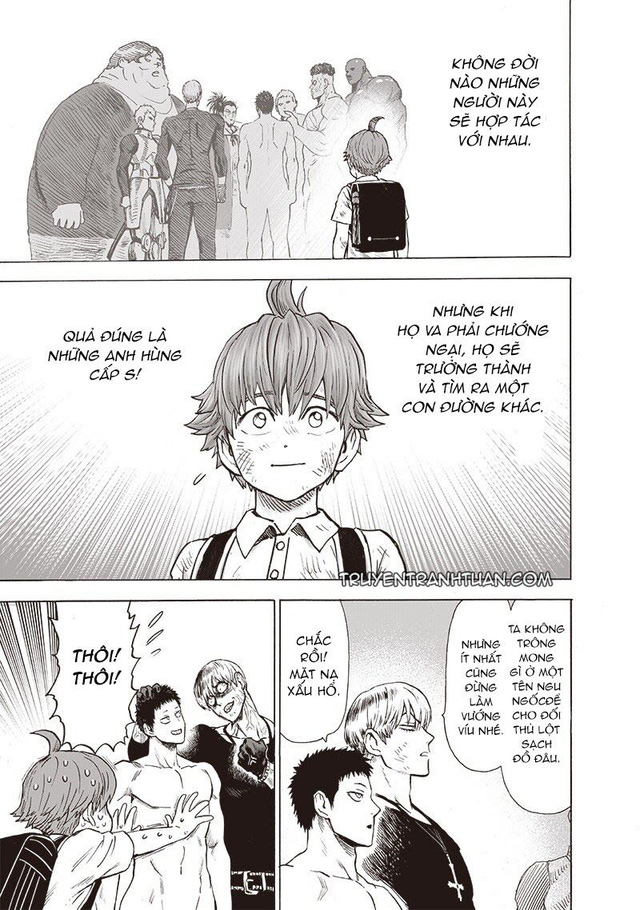 One Punch Man chap 183: Ngóng dài cổ nhưng anh hùng Saitama không xuất hiện, điểm nhấn duy nhất là Garou - Ảnh 4.