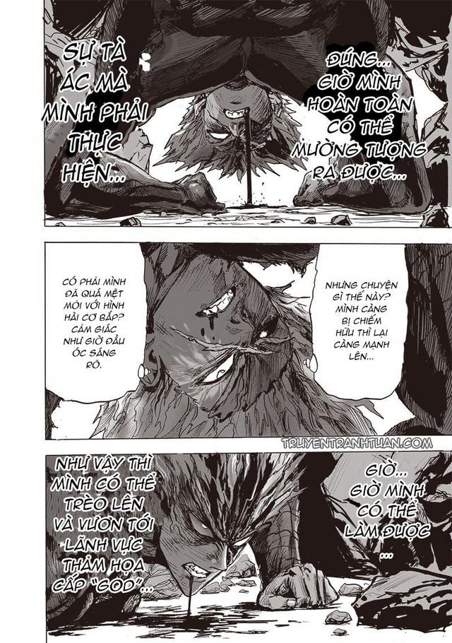 One Punch Man chap 183: Ngóng dài cổ nhưng anh hùng Saitama không xuất hiện, điểm nhấn duy nhất là Garou - Ảnh 3.