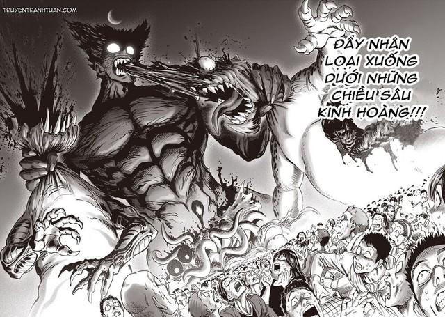 One Punch Man chap 183: Ngóng dài cổ nhưng anh hùng Saitama không xuất hiện, điểm nhấn duy nhất là Garou - Ảnh 2.