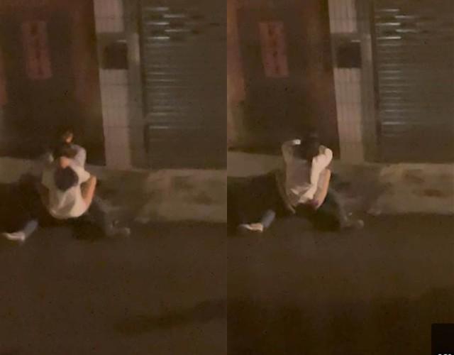Nửa đêm ngồi ôm ấp ngoài đường với tư thế nhạy cảm, cặp đôi trẻ nhận nhiều gạch đá từ phía cộng đồng mạng - Ảnh 2.