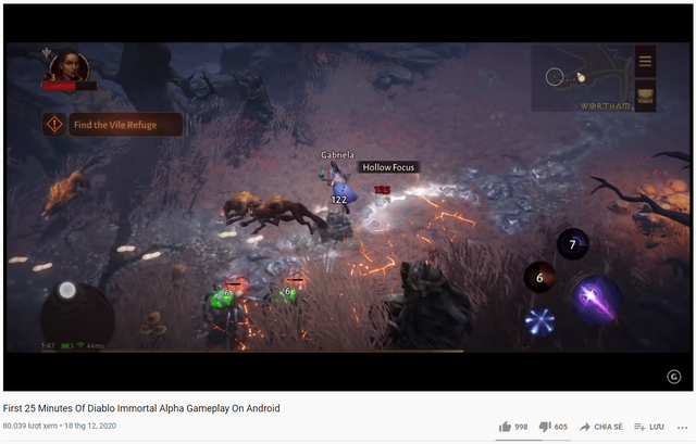 Lượng dislike của các clip Diablo Immortal luôn cực kỳ cao
