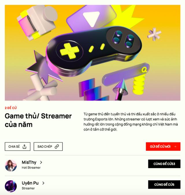Hé lộ những cái tên đầu tiên xuất hiện trong danh sách đề cử Game thủ/ Streamer tại WeChoice Awards 2020 - Ảnh 1.