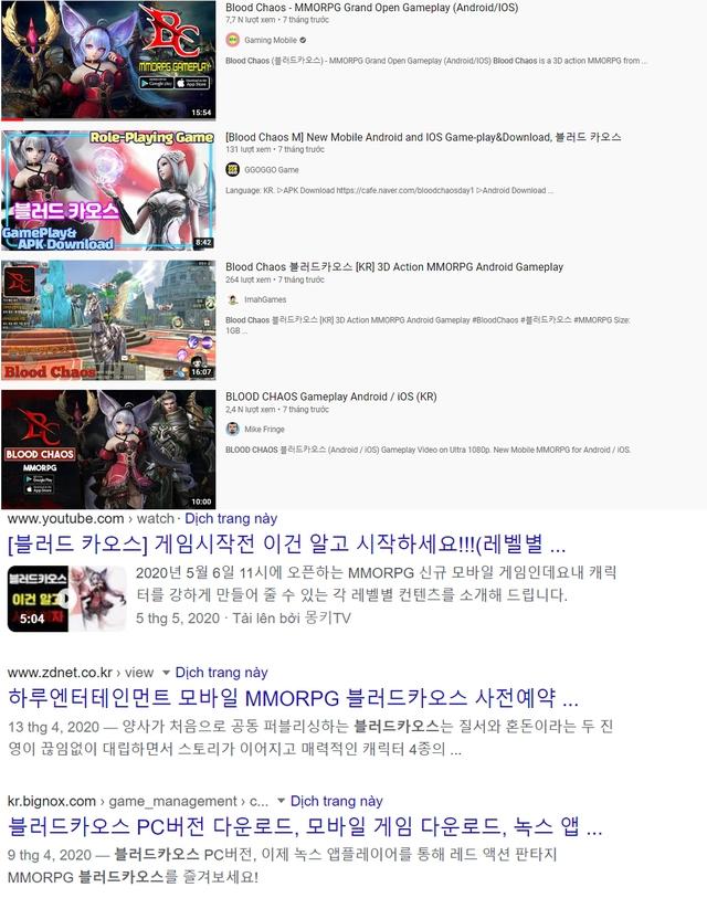 Blood Chaos M xuất hiện dày đặc trên các phương tiện truyền thông Hàn Quốc