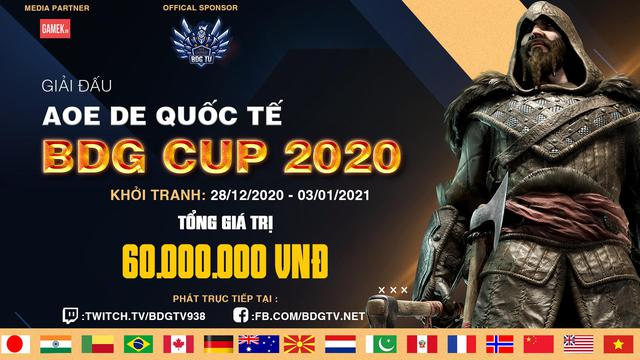 Thông báo về giải đấu AoE DE BDG Cup 2020, nơi thỏa mãn đam mê, kết nối bạn bè thế giới - Ảnh 1.