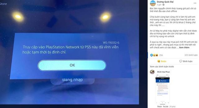 Game thủ Việt kêu trời vì bị khóa tài khoản PS5, PS4 - Ảnh 1.