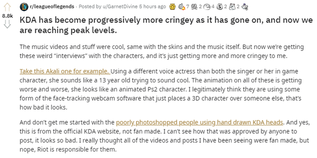 Công ty giải trí Riot Games bất ngờ bị cộng đồng ném đá nặng nề vì video mới của Akali quá... xấu - Ảnh 2.