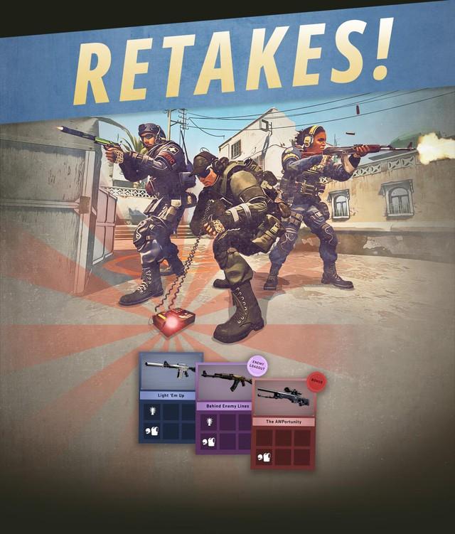 Mọi người chơi đều có thể trải nghiệm chế độ Retake trong thời gian Operation diễn ra