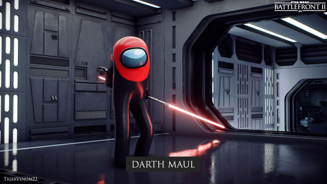 Xuất hiện bản mod siêu hài hước, kết hợp giữa Among Us và Star Wars Battlefront II Photo-2-1607231936195871433241