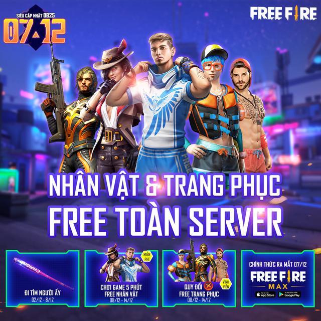 """Nóng! Free Fire MAX chính thức ra mắt vào ngày 7/12, tặng quà miễn phí """"siêu to khổng lồ"""" toàn server - Ảnh 3."""