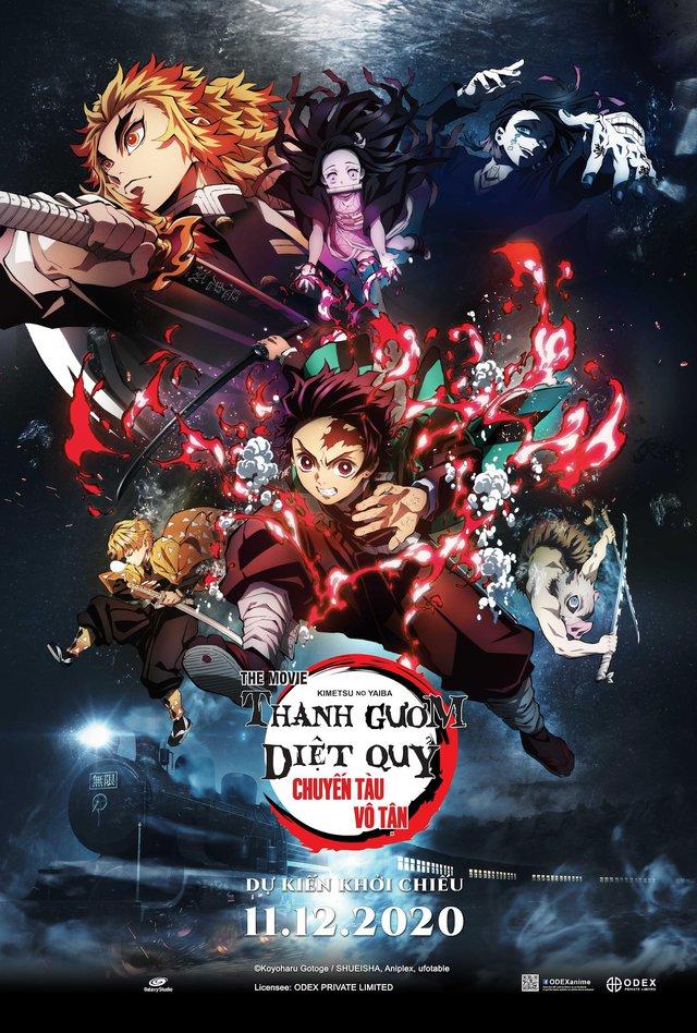Poster phim Thanh Gươm Diệt Quỷ: Chuyến Tàu Vô Tận