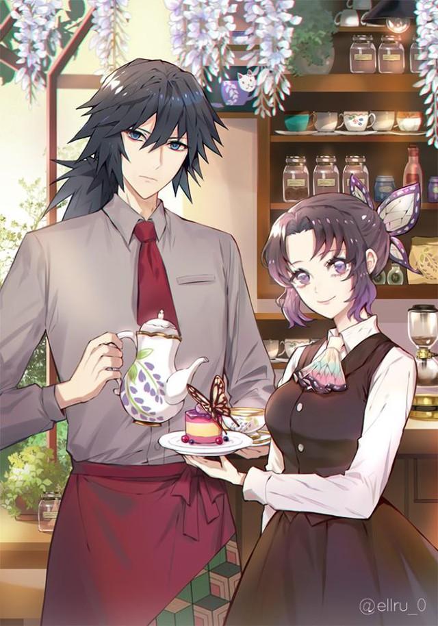 Kimetsu no Yaiba: Ngày lễ Tình yêu, Thủy trụ và Trùng trụ thân mật qua loạt fan art đẹp như mơ - Ảnh 1.