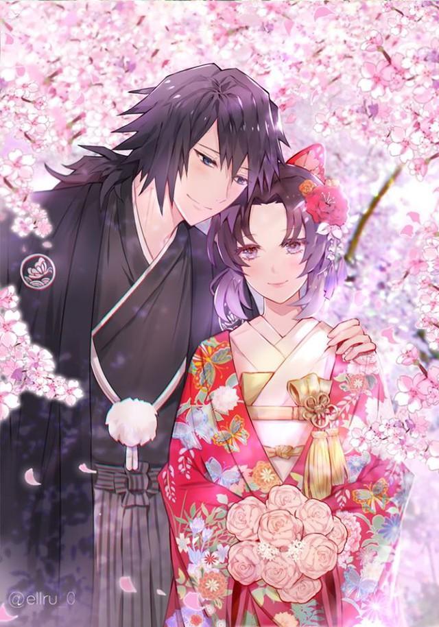Kimetsu no Yaiba: Ngày lễ Tình yêu, Thủy trụ và Trùng trụ thân mật qua loạt fan art đẹp như mơ - Ảnh 2.