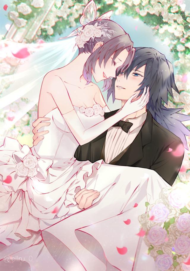 Kimetsu no Yaiba: Ngày lễ Tình yêu, Thủy trụ và Trùng trụ thân mật qua loạt fan art đẹp như mơ - Ảnh 3.