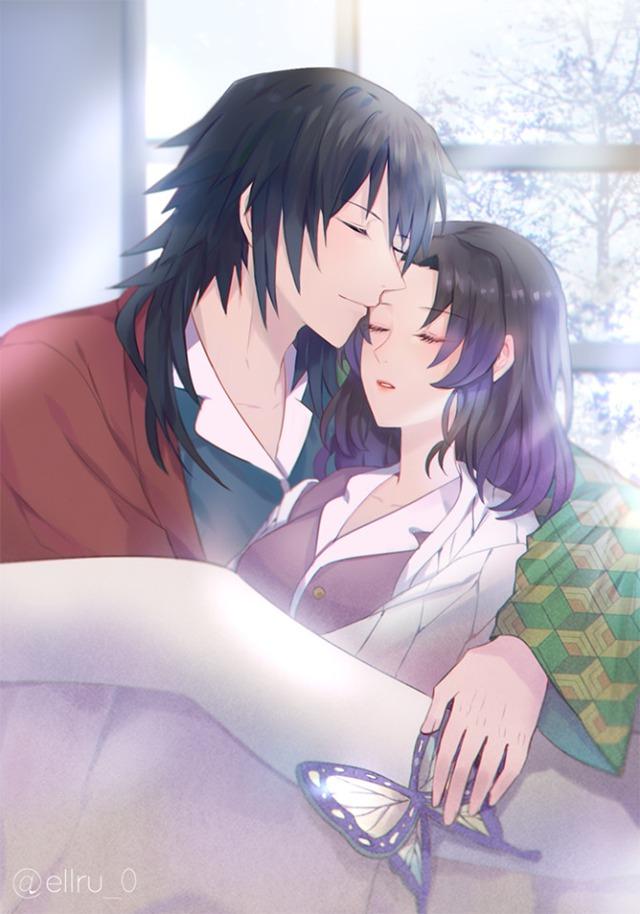 Kimetsu no Yaiba: Ngày lễ Tình yêu, Thủy trụ và Trùng trụ thân mật qua loạt fan art đẹp như mơ - Ảnh 4.