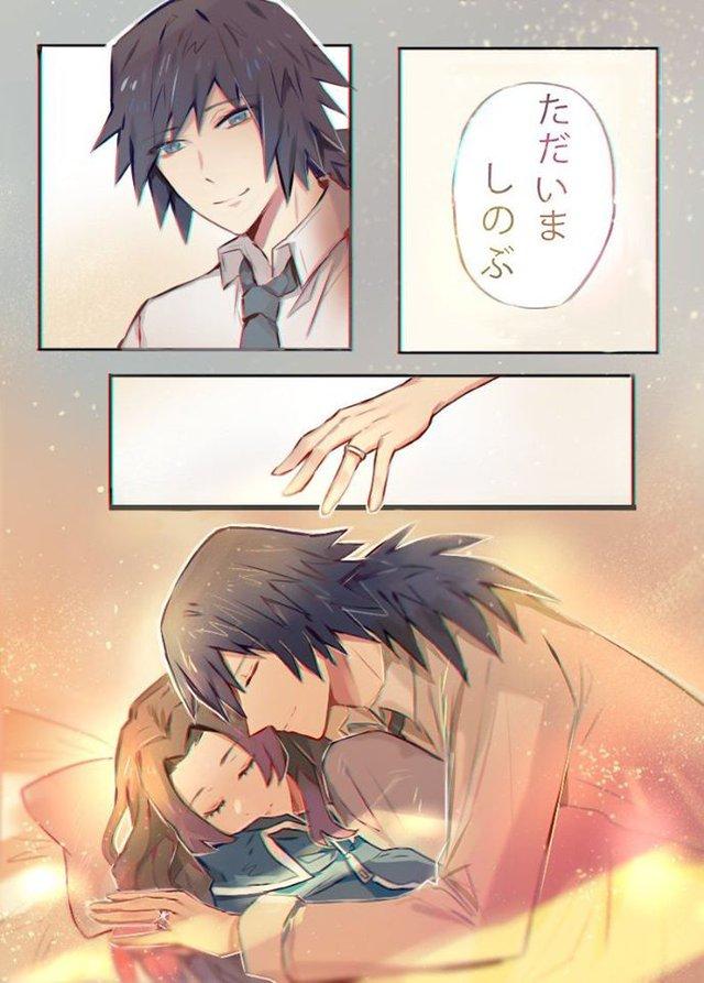 Kimetsu no Yaiba: Ngày lễ Tình yêu, Thủy trụ và Trùng trụ thân mật qua loạt fan art đẹp như mơ - Ảnh 12.