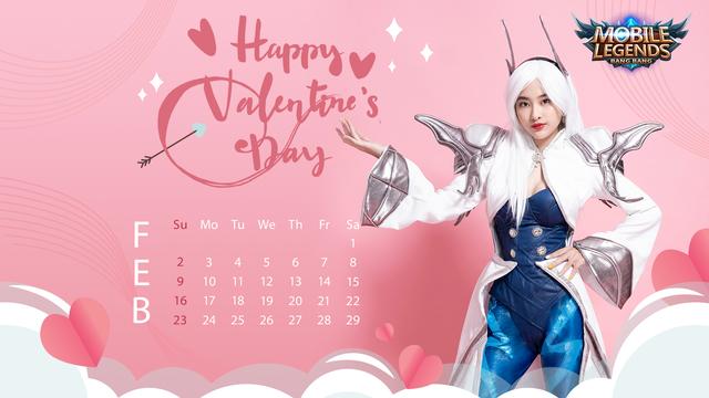 Valentine's Day - Nữ streamer Mobile Legends: Bang Bang VNG tạo dáng siêu cute trong bộ ảnh lịch cực chất - Ảnh 1.