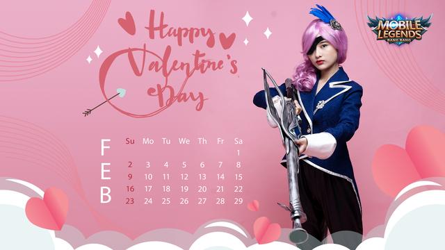 Valentine's Day - Nữ streamer Mobile Legends: Bang Bang VNG tạo dáng siêu cute trong bộ ảnh lịch cực chất - Ảnh 2.