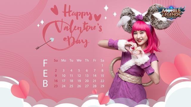 Valentine's Day - Nữ streamer Mobile Legends: Bang Bang VNG tạo dáng siêu cute trong bộ ảnh lịch cực chất - Ảnh 3.