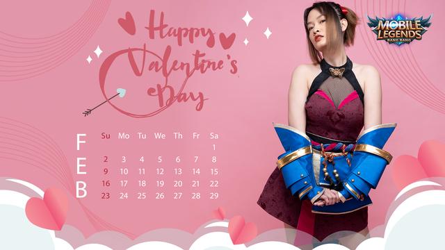 Valentine's Day - Nữ streamer Mobile Legends: Bang Bang VNG tạo dáng siêu cute trong bộ ảnh lịch cực chất - Ảnh 4.