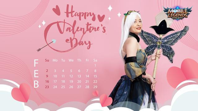 Valentine's Day - Nữ streamer Mobile Legends: Bang Bang VNG tạo dáng siêu cute trong bộ ảnh lịch cực chất - Ảnh 5.