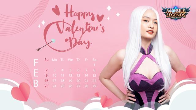 Valentine's Day - Nữ streamer Mobile Legends: Bang Bang VNG tạo dáng siêu cute trong bộ ảnh lịch cực chất - Ảnh 6.