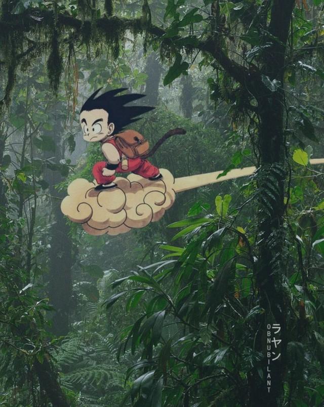 Từ Goku cho tới Naruto đều chân thực một cách khó tin khi yếu tố 2D được đặt trên bối cảnh thực tế - Ảnh 3.