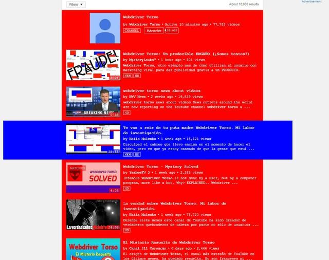 Hàng loạt giả thuyết được đặt ra về Webdriver Torso