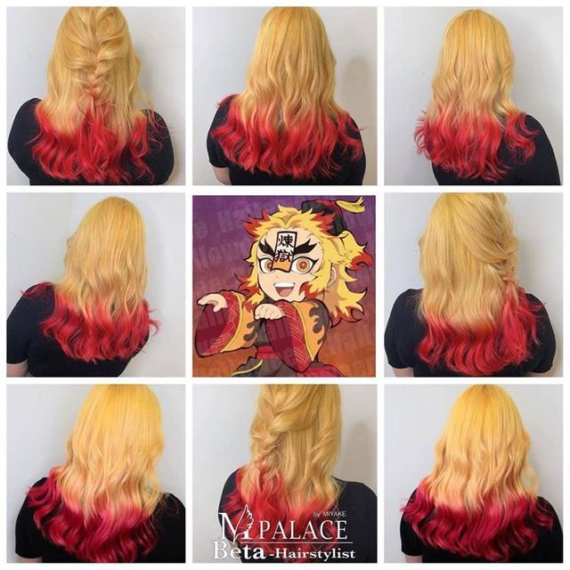 Ngắm loạt cảnh cosplay màu tóc 7 sắc cầu vồng của các nhân vật Kimetsu no Yaiba mà mê - Ảnh 2.