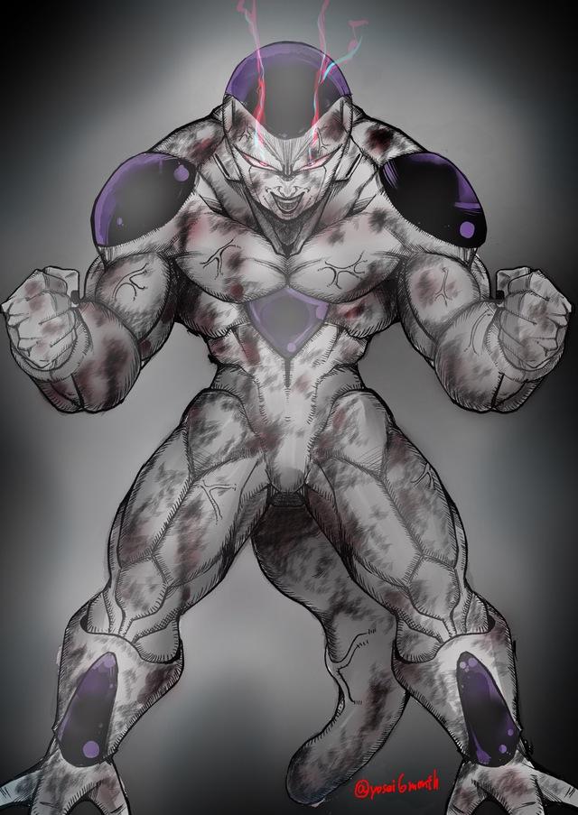 Dragon Ball: Hết hồn khi thấy ác nhân Frieza được vẽ theo phong cách kinh dị dọa nạt người xem - Ảnh 3.