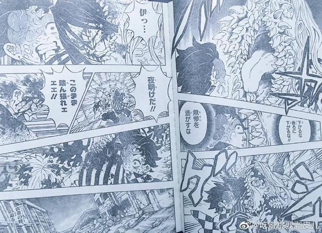 Spoiler Kimetsu no Yaiba 198: Xà trụ vì cứu Tanjirou bị Muzan nuốt chửng đầu, bình minh đã bắt đầu hé rạng - Ảnh 4.